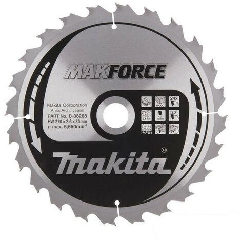 Makita - Lame de scie circulaire carbure 270 mm 24 dents - B-08268 - TNT