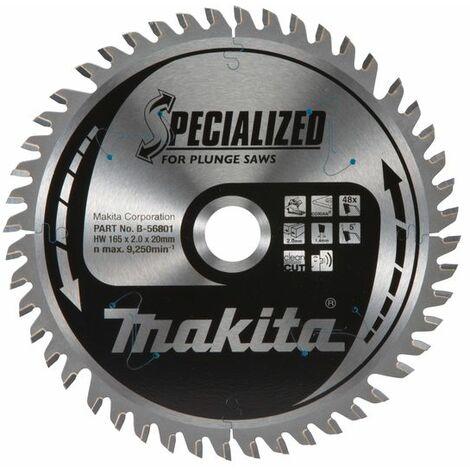 Makita Lame de scie Specialized, 165x20x48 - B-56801