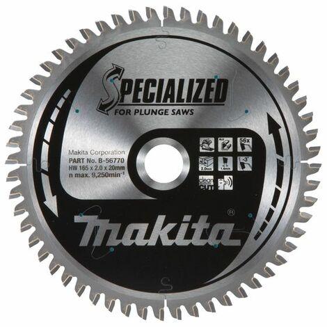 Makita Lame de scie Specialized, 165x20x56 - B-56770