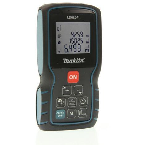 MAKITA LD080PI - Medidor laser distancia 80 m laser ii ip54 20 memorias 3 lineas en pantalla y medicion indirecta