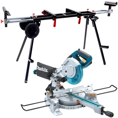 Makita LS0815FLN 216mm Sliding Mitre Saw Laser Light 110V + Universal Wheel Stand:110V