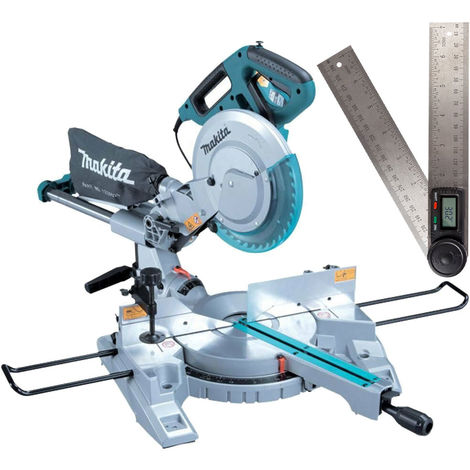 Makita LS0815FLN 240V 216mm Sliding Compound Mitre Saw with 200mm Angle Finder:240V