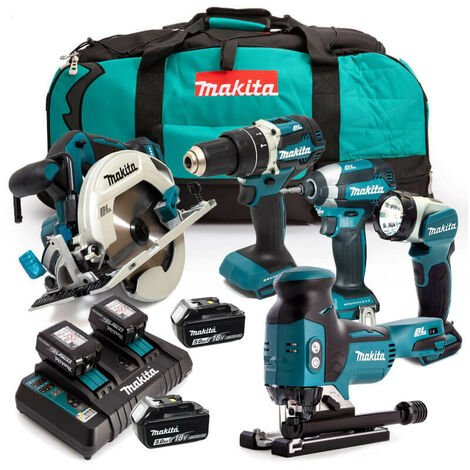Makita LXT 18v 5 Piece Kit 4 x 5.0ah Batteries