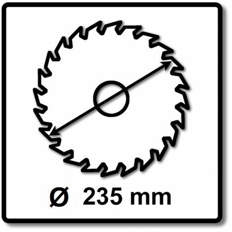 Makita M-FORCE Lame de scie circulaire pour bois 235 x 30 x 2,3 mm, 24 dents ( B-32063 )