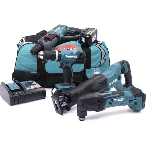 Makita M42 18v 4 Piece Kit with 2 x 4.0Ah Batteries