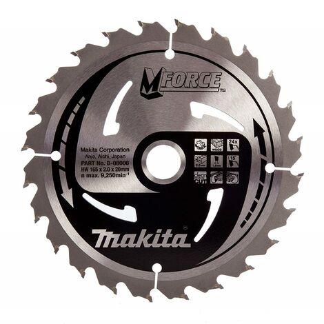 Makita Makforce Saw Blade 165 X 20mm 24 Teeth 5704R 5704RK B-08006