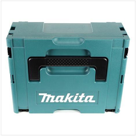 Makita MAKPAC 3 Coffret de transport - avec Insert universel pour Meuleuse, Scie et Cloueur sans fil Makita 18 V