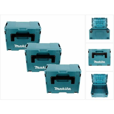 Makita MAKPAC lot de 3 Coffrets empilables Taille 3