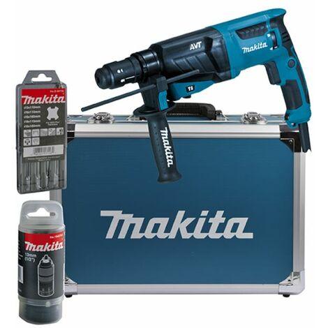MAKITA Marteau combiné SDS-Plus HR2631FT13 | y compris les accessoires et le boîtier en aluminium