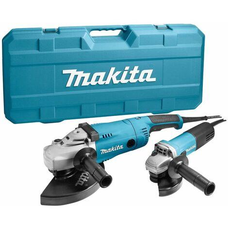 rico y magnífico cupón doble Venta caliente 2019 Makita MEU049 / DK1189Z Set amoladora angular (GA9020R & 9558NB) en maletín  - 2200W / 840W - 230mm / 125mm