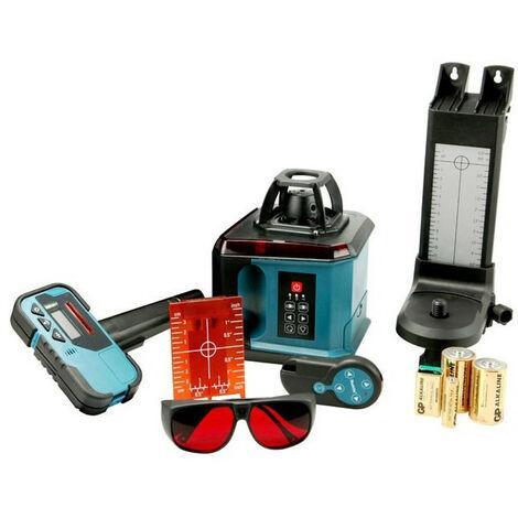 Makita – Niveau laser automatique rotatif 200 Mètres + (Récepteur, support, télécommande..) – SKR200Z
