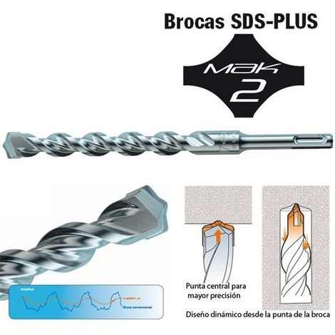 MAKITA P-29309 - Broca para hormigon sds-plus mak2 65x210 mm
