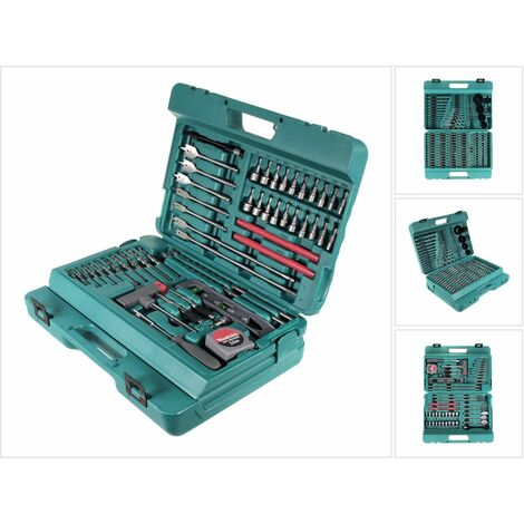 Makita P-44046 Set de brocas, puntas y otros accesorios de 216 piezas en estuche
