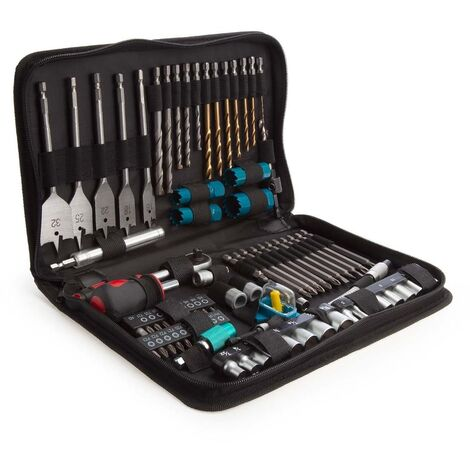 Makita P-52065 79 Piece Technicians Pouch Drill and Screwdriver Kit