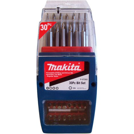 """main image of """"Makita P-57283 Impact Bit Set (30 Pieces) in Butterfly opening Case"""""""