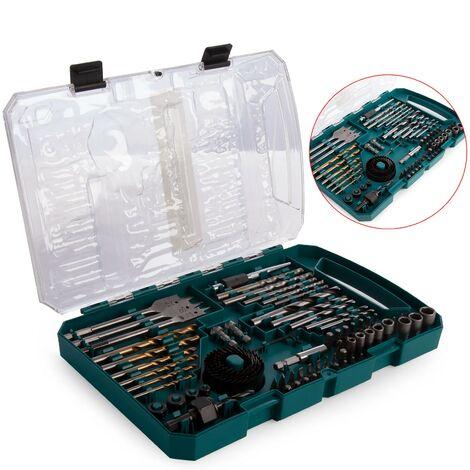 Makita P-90641 75 Piece Drill Bit, BradPoint, Holesaw, Nut Driver, Flat Bit Set