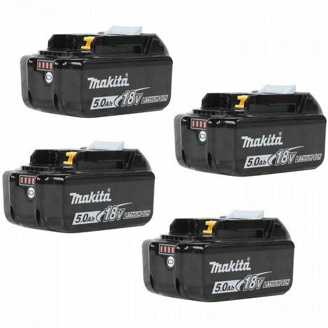 "main image of ""MAKITA Pack de 4 batteries BL1850B avec témoin de charge - 18 V 5Ah Li-ion"""
