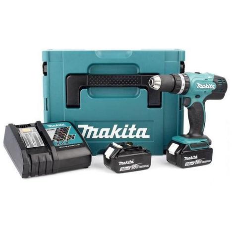 MAKITA Perceuse a percussion DHP453RFJ avec 2 batteries 18V 3Ah Li-ion et coffret Makpac