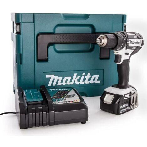 MAKITA Perceuse-visseuse a percussion DHP482RM1J - Livrée avec 1 batterie 18 V. chargeur rapide et coffret Makpac