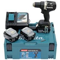Makita Perceuse-visseuse sans fil DDF484BJX1 2 batterie 18V 5 Ah et 1 batterie 18 V 3 Ah