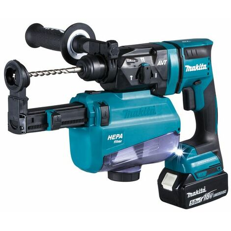 Makita Perfo-burineur SDS-PLUS 18 V / 5,0 Ah, 2 batteries + chargeur DC18RC - DHR182RTWJ