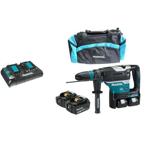Makita - Perforateur burineur SDS-Plus 2x18V Li-Ion 7.3kg avec 4 batteries 5 ah - DHR400PT4U