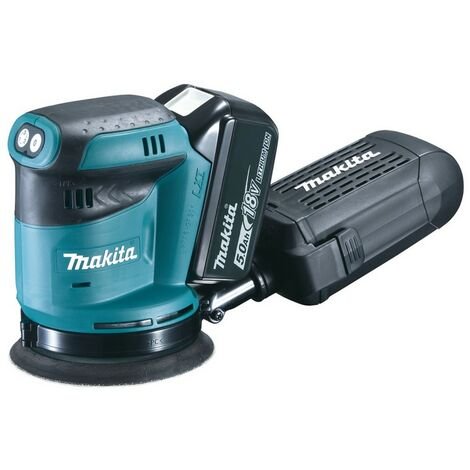 Makita Ponceuse excentrique 18V, 2x Batterie 5Ah, Chargeur DC18RC - DBO180RTJ