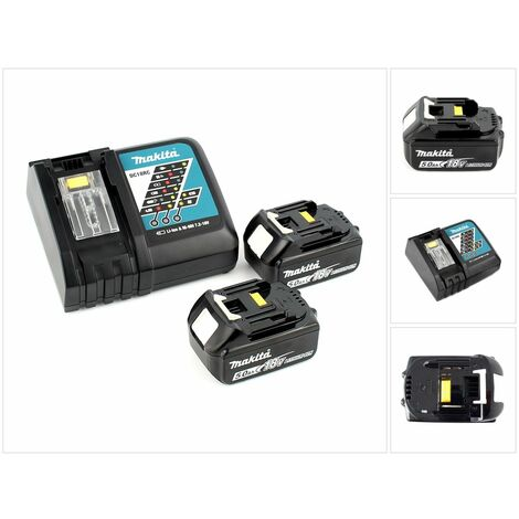 Makita Power Source Kit Li 18,0V 5Ah avec chargeur et 2 batteries - 197570-9