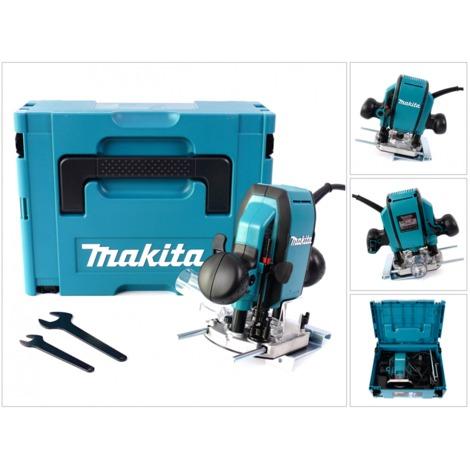 Makita RP 0900 J - 900 Watt Oberfräse 8 mm im MAKPAC Systemkoffer
