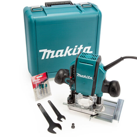 """Makita RP0900X Heavy Duty 1/4"""" or 3/8"""" Plunge Router 110V in Case"""