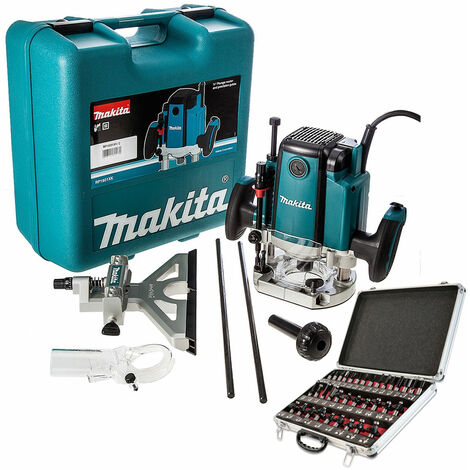 """main image of """"Makita RP1801XK Plunge Router 240V Case with 1/2"""" 35 Piece Cutter Set"""""""