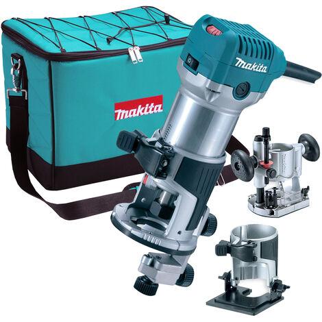 """Makita RT0700CX2 1/4"""" Router / Trimmer Kit Tilt & Plunge Bases 240V"""