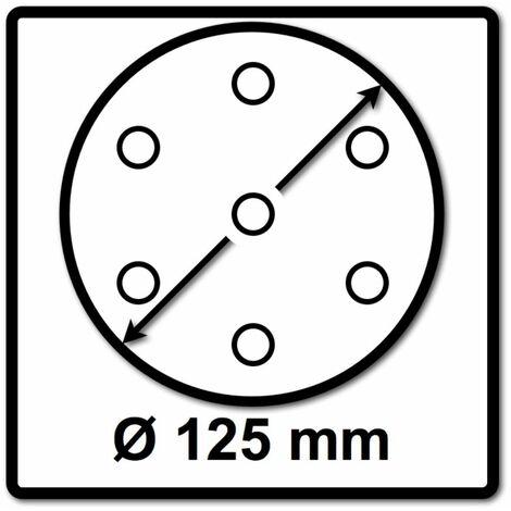 Makita Schleifpapier Klett 125mm K240 100 Stk. ( 2x P-43686 ) für DBO BO DCW DWE GEX PEX SXE BOS