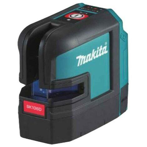Makita SK106DZ - Laser lignes/4 points et croix Li-Ion 10.8V (appareil seul) - 2 lignes - 25m - rouge