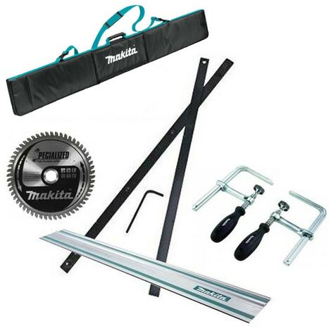 Makita SP6000 Plunge Saw Accessory Set - Rail + Connector + Clamps + Bag + Blade