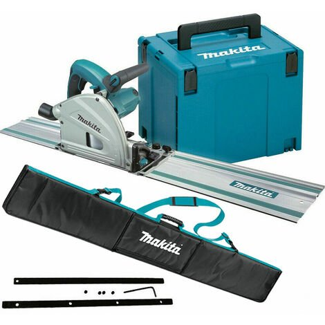 Makita SP6000J1 110V 165mm Plunge Saw with 1x1.5m Guide Rail + Case + Bag