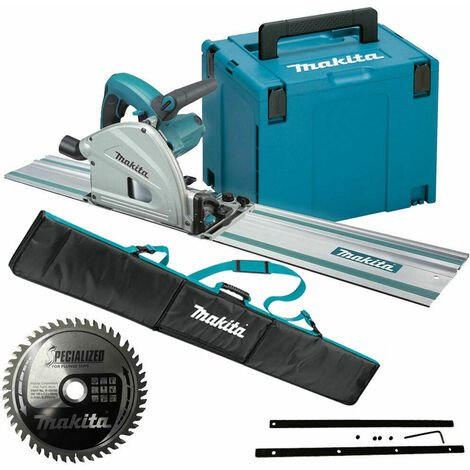 Makita SP6000J1 110V 165mm Plunge Saw with 1x1.5m Guide Rail Case+Bag+Blade
