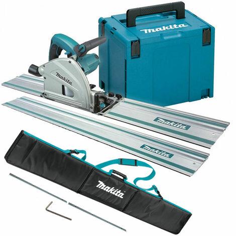 Makita SP6000J1 110V 165mm Plunge Saw with Rails, Connector Bar & Bag