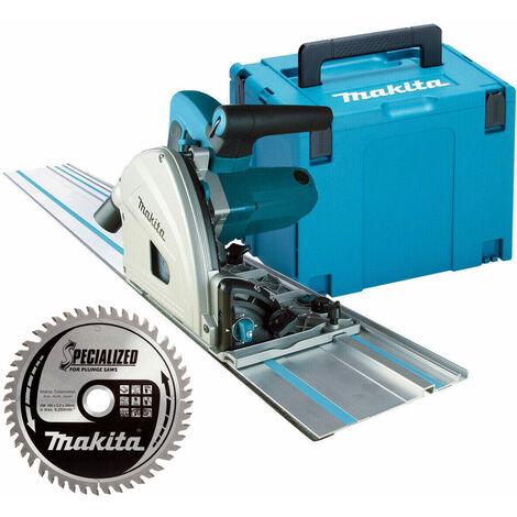 Makita SP6000J1 165mm Plunge Saw 110v + 1.5m Guide Rail + Case + Blade