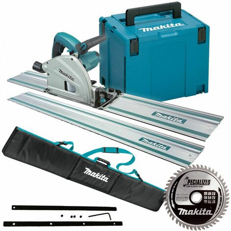 Makita SP6000J1 165mm Plunge Saw 110V with 2x1.5m Guide Rail Case+Bag+Blade