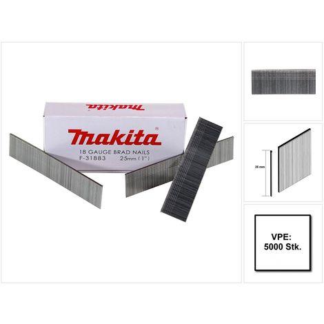Makita Stauchkopfnagel Brads 25mm 5000 Stück galvanisiert ( F-31883 ) für Makita Nagler DBN500/AF505/AF506