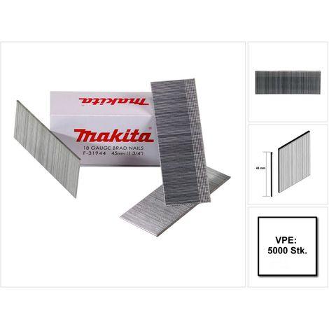Makita Stauchkopfnagel Brads 45mm 5000 Stück galvanisiert ( F-31944 ) für Makita Nagler DBN500/AF505/AF506