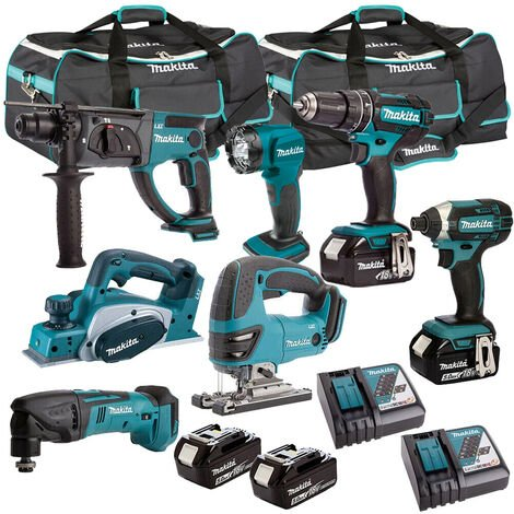 Makita T4T7052PT 18V LXT 7 Piece Kit 4 x 5.0Ah Batteries With Charger:18V
