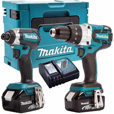 """main image of """"Makita T4T8153TJ 18V Brushless Twin Pack Kit 2 x 5Ah Batteries & Case"""""""