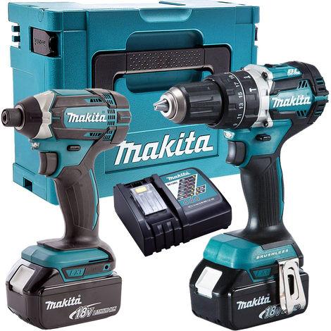 Makita T4T8452TJ 18V Twin Pack Combi + Impact Driver 2 x 5Ah Batteries