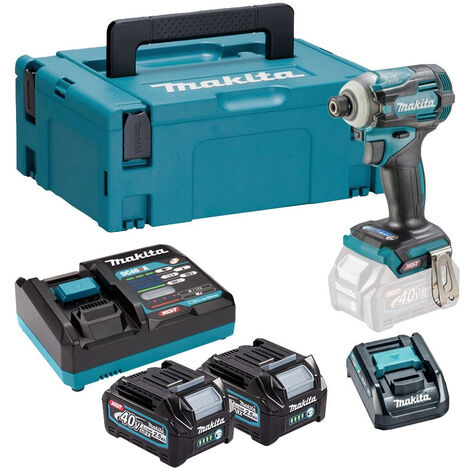 Makita TD001GD209 40V Max XGT Brushless Impact Driver Kit with 2 x 2.5Ah Battery & Charger in Makpac:40V