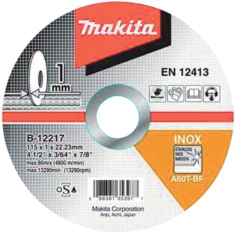 Makita Thin Cutting Wheel 115 x 1 x 22.23mm (Pack 10)