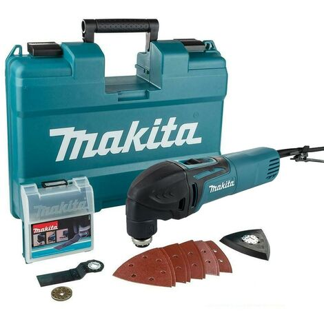 "main image of ""Makita TM3000CX14 240v Corded Oscillating Multi Tool TM3000 + 13pc Accessory Set"""