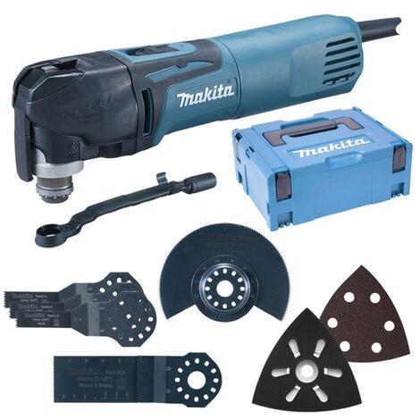 Makita TM3010CX5J - Outil multifonctions 320 W dans MAKPAC + set d'accessoires (57pcs)