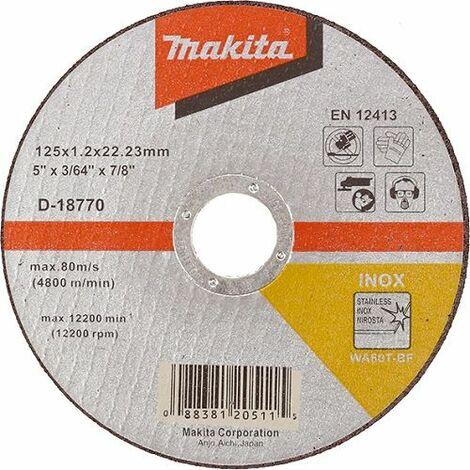 Makita Trennscheibe, 125x1,2mm, INOX - D-18770-10